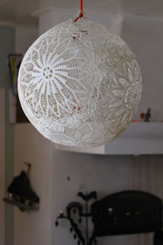 Crocheted light