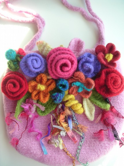 Flowered purse