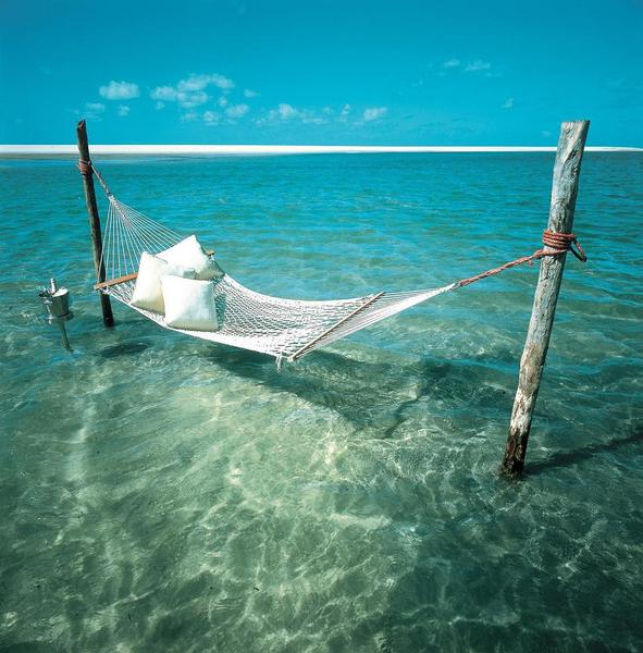 Hammock-in-the-water-paradise
